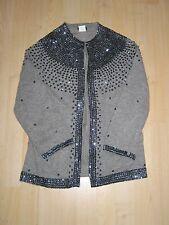 NWT JCrew Vintage Moonstone Sequin Wool Cashmere Angora Blend Sweater Cardigan M