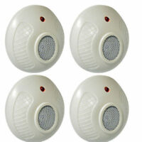4 PACK ELECTRONIC SONIC PLUG IN RODENT REPELLER RODENTS MICE MOUSE RAT DETERRENT