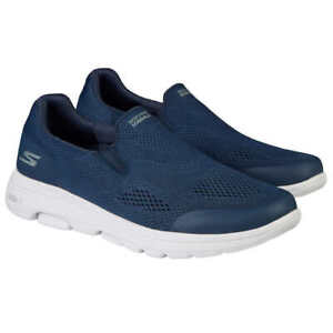 New Skechers Men's Go Walk Navy Air Cooled Slip On Memory Foam Shoes Pick Size