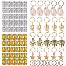 80Pcs Decorations Pendants Dreadlocks Beads Metal Cuffs Hair Rings Clips DQUS