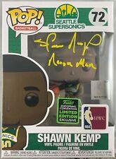 Shawn Kemp Autografiado Firmado Inscrita Funko Pop Seattle Supersonics JSA COA