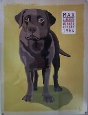 Max Labrador Metal Sign