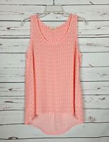Pleione Anthropologie Women's S Small Pink Coral Sleeveless Cute Spring Top Tank