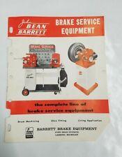 Vintage BARRETT Brake Part Service Equipment Co Tool Catalog Grinders Lathe