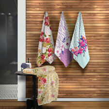 Bath / Beach Towel with Floral and Animal Pattern. 1 Bath Towel.