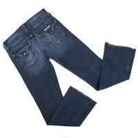 Hudson Womens Signature Bootcut Jeans Sz 29 (31 x 31) Dark Wash Denim Made in US