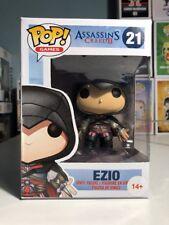 Ezio Assassins Creed 2 Black Outfit Funko Pop Pop Vinyl RARE HTF DAMAGED