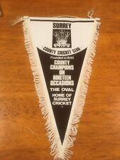 Superb Original Surrey County Cricket Club Champions 19 Times Pennant