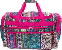 "Womens 22"" Boho Print Carry On Travel Tote Weekender Duffel Bag"