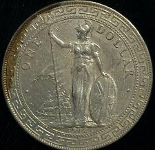 British Trade Dollar 1912 B Hong Kong China Asia etc .900 Silver 26.9g(T113)