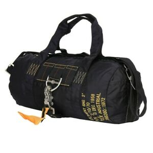 US Army Para Bag Paratrooper Pack Bag Parachute Jumper Army Bag Black #2