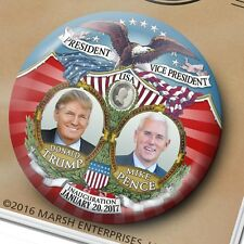 "VICTORY Jugate Donald Trump Mike Pence - 3"" pinback button - 2017 Inauguration"