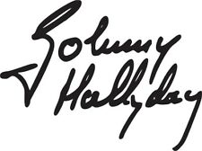 Sticker Autocollant signature JOHNNY HALLYDAY - Couleur au choix