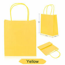 Party Gift Coloured Paper Bags With Handles Wedding Birthday Christmas Shopping Yellow 30