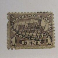 NEWBRUNSWICK Sc #6a Θ used, very fine postage stamp, locomotive