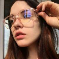 Transparent Computer Glasses Blue Light Blocking UV Relieving Eye Fatigue New