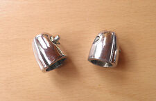 PAIR OF CHROMED LEGSHIELD TOP BEADING CLAMPS.FITS GP LAMBRETTA SCOOTERS