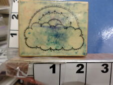 rainbow with clouds Rubber Stamp 34U