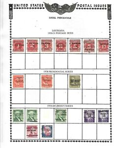 NICE  GENERAL COLLECTION OF 57 LOUISIANA PRECANCELS SET UP BY SCOTT#