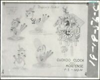 Pinocchio 1930s Animation Lithograph Model Sheet Cuckoo Hortense Walt Disney