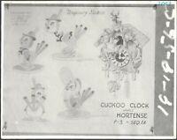 Pinocchio 1930s Animation Lithograph Model Sheet Cuckoo Hortense Walt Disney