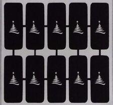 30 X Zig Zag de árbol de Navidad de uñas Plantillas Para Aerógrafo Regalo Presente X Mas