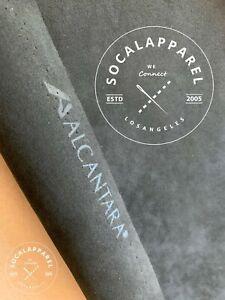 "ALCANTARA  Black Genuine Made in Italy 1/3 Yard  12"" x 58"" BARE (No backing)"