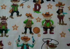 Cowboys ~ Fat Quarter FQ ~ Polycotton Fabric ~ Nursery Children's ~ Wild West