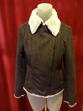 Bejeweled by Susan Fixel Suede Coat Brown New without Tags