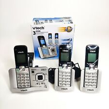 VTech DS6521-3 DECT 6.0 Digital Bluetooth Cordless Phone Connect To Cell Answer