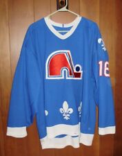 Vintage Old School Early 90s Quebec Nordiques Jersey, Used