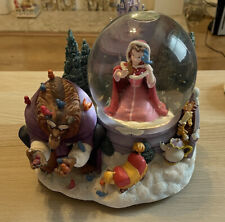 More details for rare large disney beauty & the beast snowglobe something there