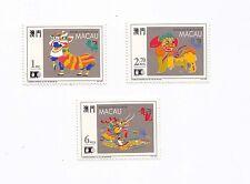 China Macau 1992 Lion Dance Drgon World Columbian Stamp Expo set of 3 stamp MNH