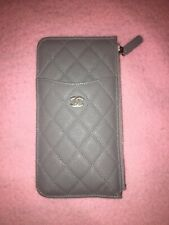 CHANEL CLASSIC CAVIAR POCHETTE FOR IPHONE & CARDS GREY LIMITED EDITION BNIB