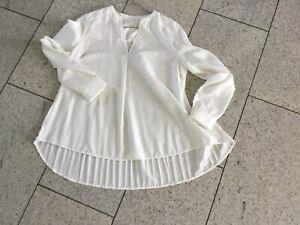 FROGBOX Bluse Tunika 38 Creme Polyester Sehr guter Zustand!