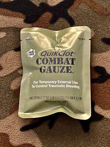 Quickclot Combat Gauze Hemostatic Bleeding Control Survival Outdoors IFAK