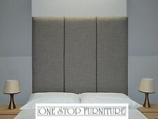Lima High Headboard Wall Fixing Linen All Sizes & 14 Colours! Cheapest on eBay!
