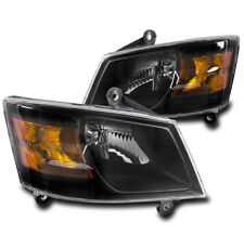 2008-2010 DODGE GRAND CARAVAN CRYSTAL BLACK REPLACEMENT HEADLIGHT LAMP ASSEMBLY
