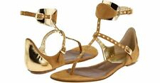 NEW Dsquared2 US 10 EU 40 Brown Suede Leather Thong Ankle Strap Sandals Shoes