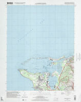 """24""""x30"""" Map of extreme points of the United States Apra harbor"""