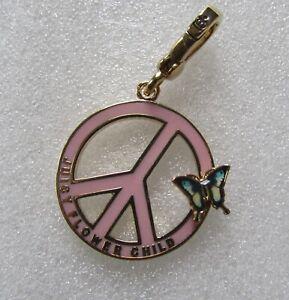 Juicy Couture Charm Flower Child Peace Sign Butterfly