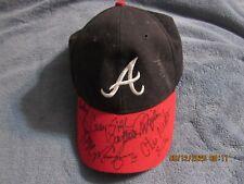 Atlanta Braves Signed Autographed Hat Marquis Grissom Otis Nixon Steve Avery