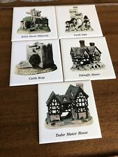 Vintage 5 David Winter Cottages Coasters, England