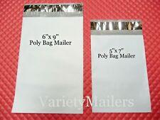 50 Small Poly Bag Mailer Combo 5x7 & 6x9 Self-Sealing Shipping Envelope Bags