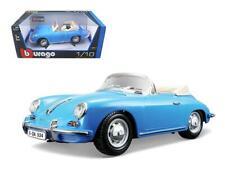 1961 Porsche 356B Convertible Blue 1:18 Diecast Car Model - Bburago - 12025BL