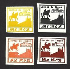 Ile Roy Fantasies 1973 Stamp Day – Horseman & Castle 4v ex Jim Czyl