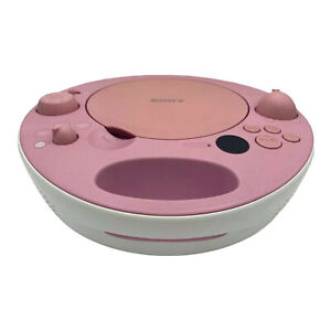 Sony ZS-E5 Pink Portable CD Player AM/FM Radio MP3 AUX Stereo Boombox. Nice!