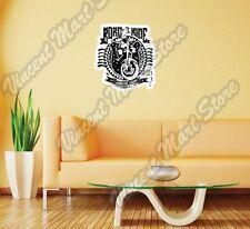 "Born To Ride Chopper Bike Stamp Gift Wall Sticker Room Interior Decor 20""X25"""