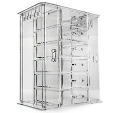 Acrylic Makeup Organiser Deluxe Large 6 Clear Drawers for Make-up and 2 Hanging