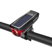 ROCKBROS Bicycle Cycling Headlight Solar USB Charging 120dB Horn 350 Lumen Light